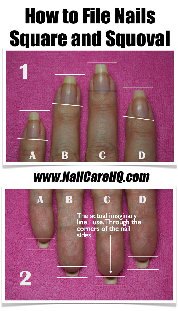 Nailcarehq How To File Nails Square And