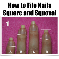 www.NailCareHQ.com How-to-file-nails-square-and-squoval