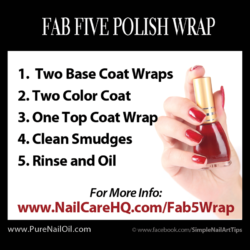 www.NailCareHQ.com Prevent Polish Chipping The Fab 5 Polish Wrap