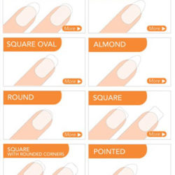 Image of different nail shapes