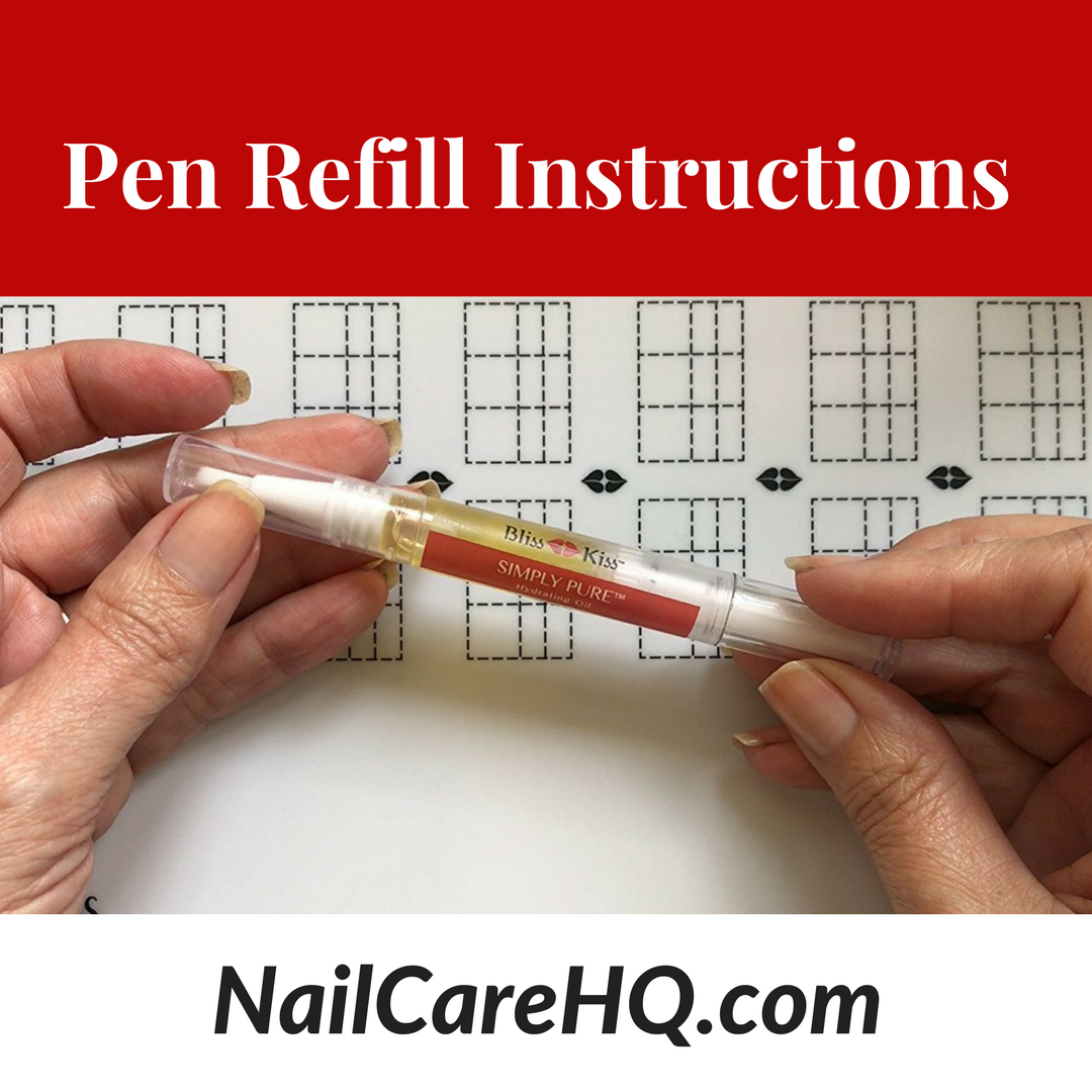 Pen Refill Directions Nail Care Hq