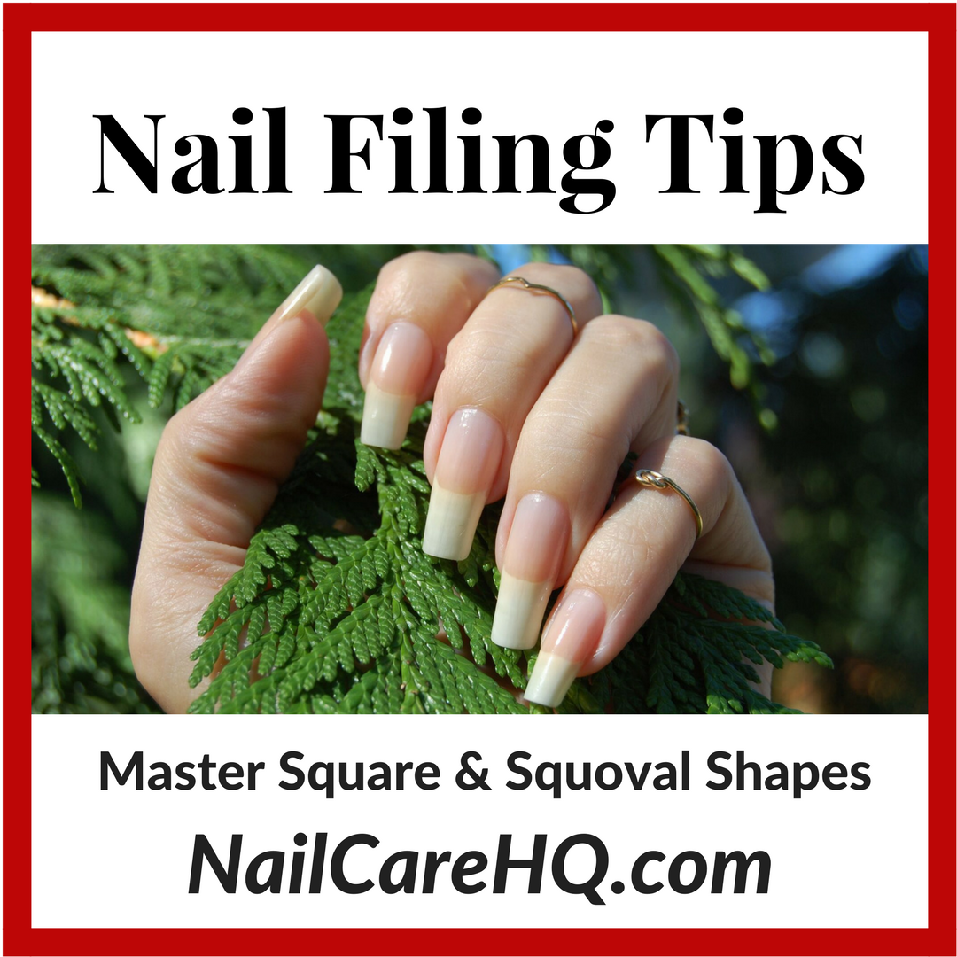 Nail Shapes – How To File Nails Square and Squoval | Nail